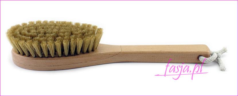 szczotaka do masażu ciała na sucho z naturalnego włosia