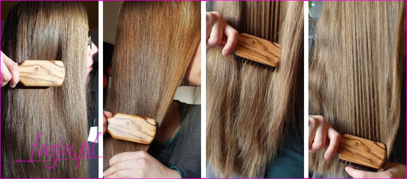 szczotkowanie długich włosów