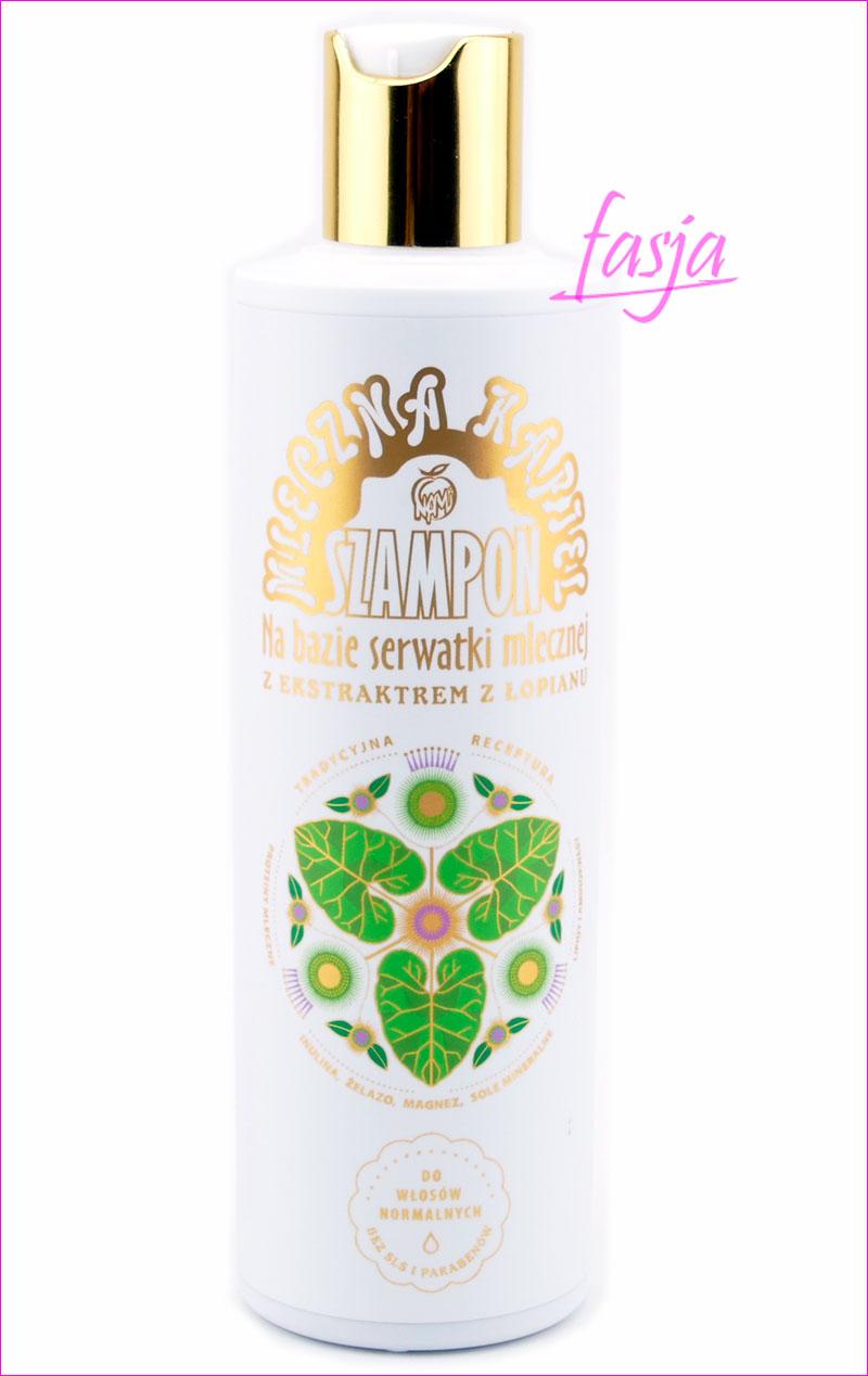 szampon na bazie serwatki mlecznej i łopianu