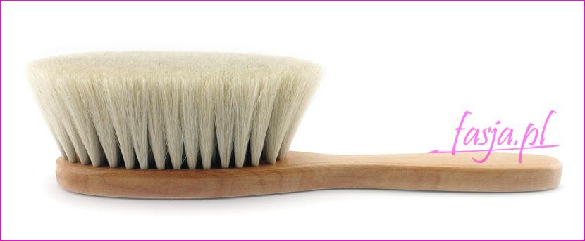 miękka szczotka do włosów z naturalnego włosia