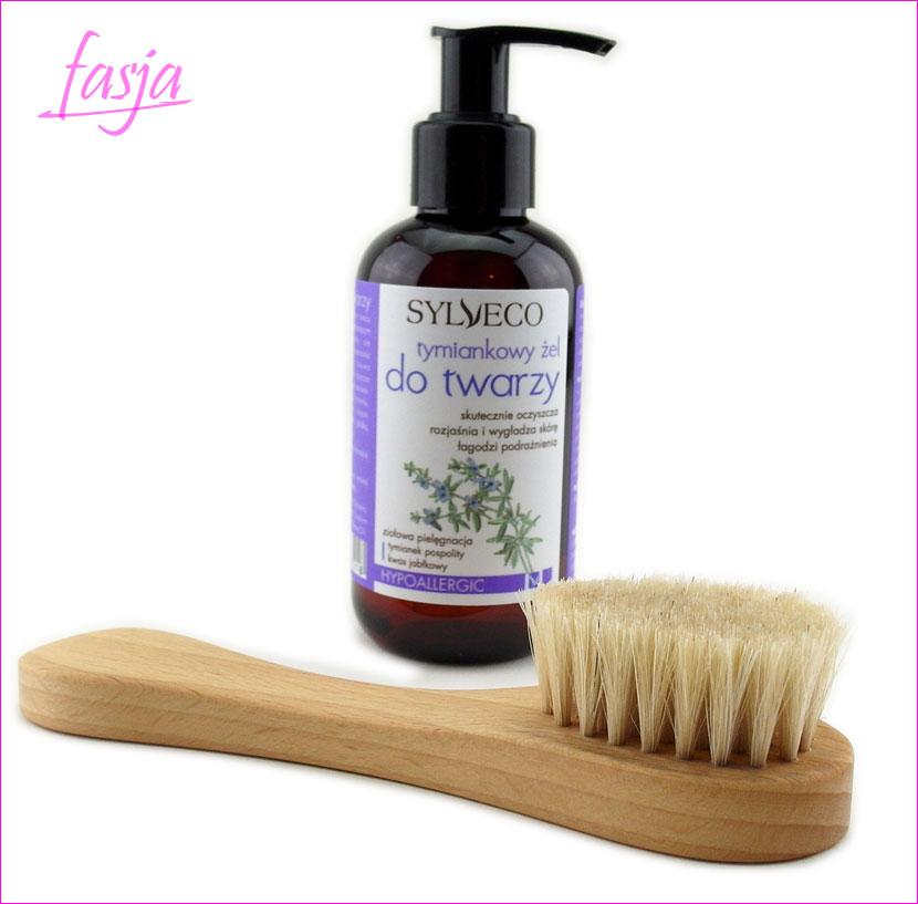 szczoteczka z naturalnego włosia do mycia twarzy