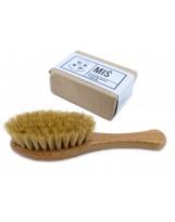 Zestaw dla niemowlaka: szczoteczka do włosów z naturalnego włosia i delikatne mydło