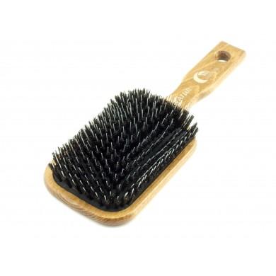 Szczotka DUŻA do włosów pneumatyczna - włosie dzika + rozczesywacz