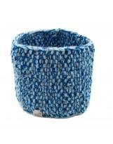 Szeroka ciepła opaska na głowę ręcznie robiona na drutach