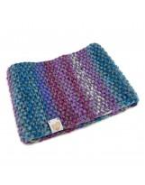 Wełniana ciepła opaska na głowę ręcznie robiona na drutach