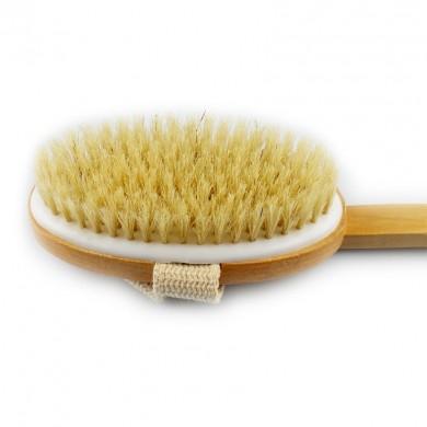 Szczotka do mycia i masażu ciała z naturalnego włókna sizalowego