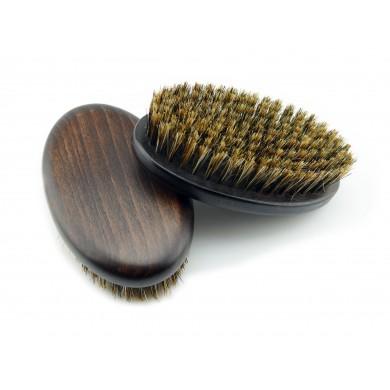 Szczotka kartacz do brody z włosia dzika
