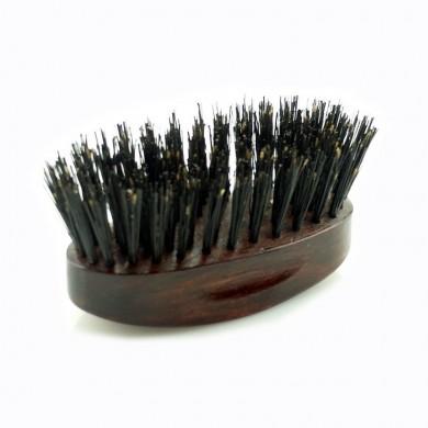 Ręcznie robiona szczotka do brody i wąsów ze szczeciny dzika