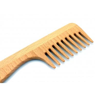 Grzebień drewniany z rączką