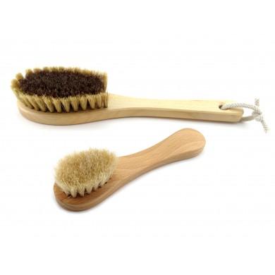 Zestaw szczotek do suchego masażu twarzy, szyi i dekoltu