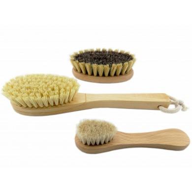 Zestaw szczotek do mycia masażu ciała, twarzy, dekoltu