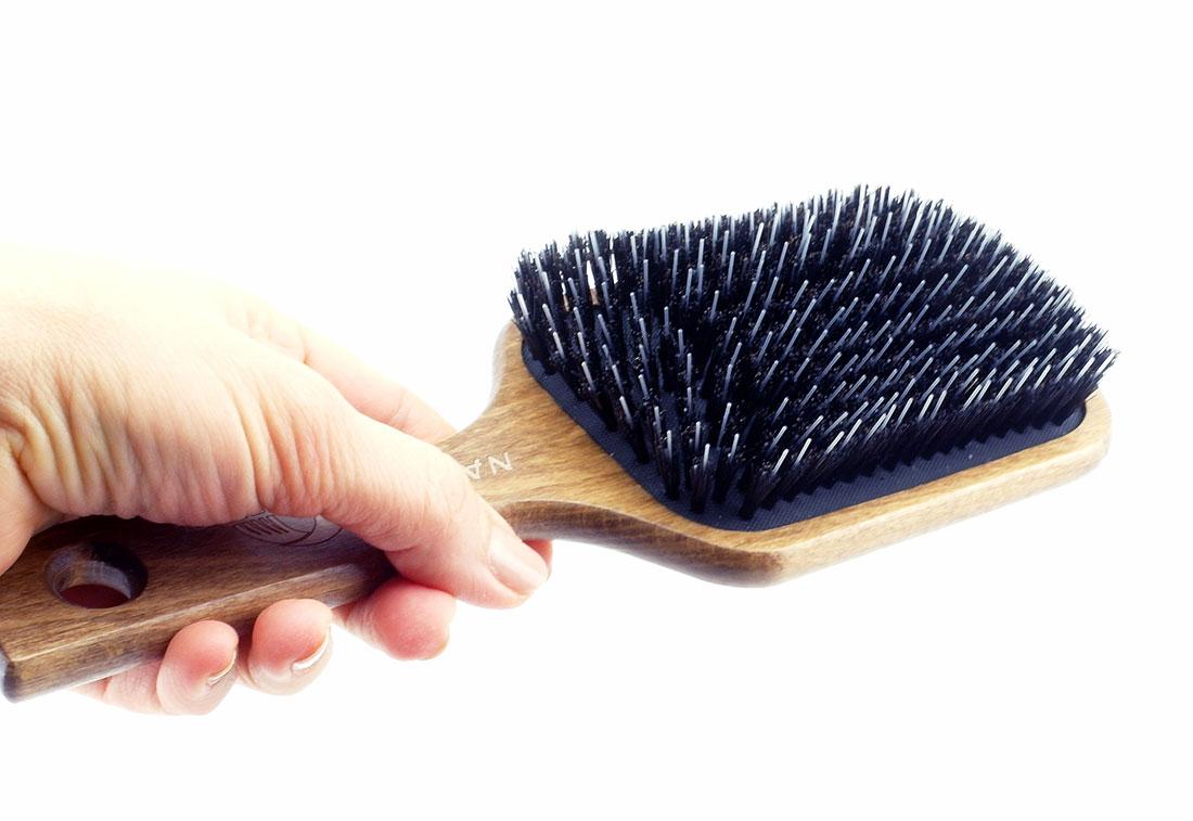 duza szczotka do włosów z naturalnego włosia
