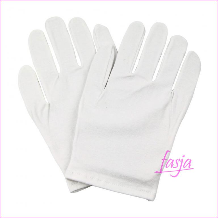 bawełniane rękawiczki na popękane dłonie
