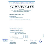 Certificate ISO 22716 2007 IQNet