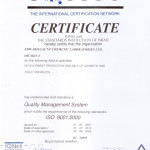 Iso 9001 Certificate IONET